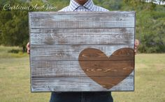 Wedding Guest Book-Heart-Anniversary-Sign-Pallet Board-Guestboard-Wall Art-Rustic-Barnwood Decor-Country-Reclaimed Wood-Hand Painted by CurlicueAndVine on Etsy