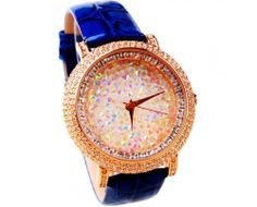 Luxurious Crystal Real Leather Starry Sky Women's Luxury Watch - USD $140.95