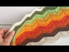 Zikzak Battaniye / Ripple blanlet - YouTube Crochet Ripple, Baby Blanket Crochet, Chevron, Hat Patterns, Youtube, Pattern, Youtubers, Youtube Movies