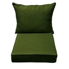 Allen + Roth Green Texture Deep Seat Patio Chair Cushion For Deep Seat Chair