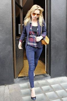 Kate Moss's blue look soon on www.musestyle.com #musestyle