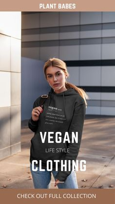 Vegans come in all shapes and sizes, and our vegan clothing is perfect for anyone who wants to promote their commitment to a compassionate & vegan life style. Plant Babes offers a wide variety of vegan clothing, and we want to make products that help educate the world on just how fun it is to save animals, the environment, and be healthy and conscious. Click the link and claim 50% discount for limited time only! #veganlifestyle #veganclothingbrand #veganclothing #plantbased #govegan #veganhoodie Vegan Clothing, Save Animals, Vegan Life, Vegans, Environment, Plant, Shapes, Healthy, Fun