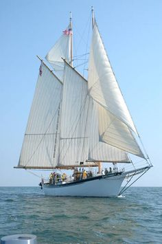 The Appledore Tall Ship at full sail along the Saginaw Bay... She will be in Savannah for the Tall Ships Challenge in May!!