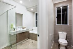 You don't need a wrecking ball just to make your bathroom more spacious. A few #bathroomremodeling tricks are all you need to make it look roomy.