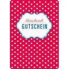 Postkarte Geschenk Gutschein