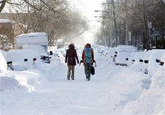 Montreal snow storm 2012 - we had 45cm here today!