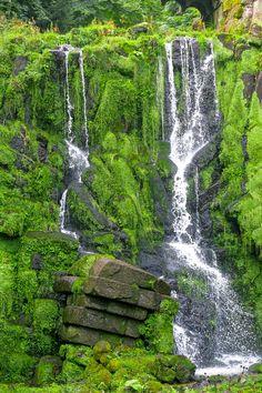 Hand made waterfall - Hand made waterfall in a german parkland. Waterfall, German, Hands, Explore, Handmade, Outdoor, Deutsch, Outdoors, Hand Made
