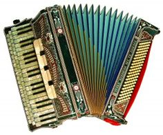 I would LOVE to own this antique piano accordion. Italian-made, I believe.