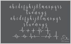 Heartbeat Font download // OTF / TTF Open Type Fonts //Digital Font Digital, Open Type, Writing Styles, In A Heartbeat, Type Fonts, Learning, Handmade Gifts, Beaches, Etsy