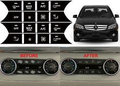 1 Door Lock Switch Button Repair Stickers For 2008-2014 Mercedes Benz W204 C300