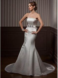 Wedding+Dresses+-+$177.99+-+Mermaid+Strapless+Court+Train+Satin+Wedding+Dress+With+Sash+Beadwork++http://www.dressfirst.com/Mermaid-Strapless-Court-Train-Satin-Wedding-Dress-With-Sash-Beadwork-002001174-g1174