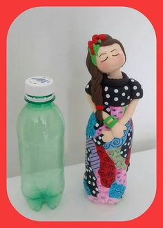 Папье-маше How to make doll Papier-mache: Artesanato Brasil, Artesanato Decoração, Artesanato Com Pet, Artesanato Em Feltro, Decoupage Em Vidro Recycled Crafts, Diy And Crafts, Crafts For Kids, Arts And Crafts, Plastic Bottle Crafts, Wine Bottle Crafts, Paper Mache Crafts, Doll Crafts, Craft Projects