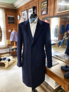navy bespoke overcoat with navy velvet collar Navy Overcoat, Bespoke Clothing, Suit Jacket, Breast, Velvet, Suits, Jackets, Clothes, Fashion