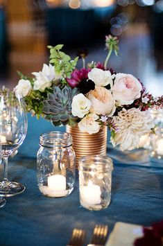 24 Amazing Mason Jar Centrepiece Ideas for Your Big Day