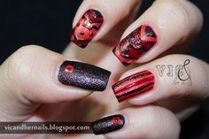 Vic and Her Nails:  Tribal #nail #nails #nailart
