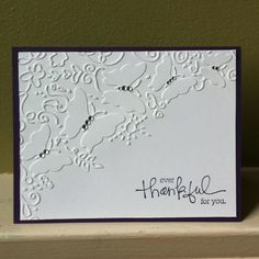 Thank you card - easy to make and yet simple and elegant.