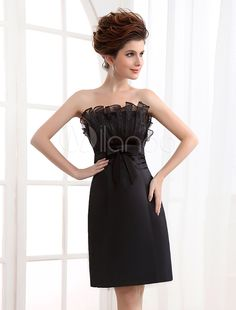 #Milanoo.com Ltd          #Cocktail Dresses         #Cocktail #Dress #Black #Sheath #Strapless #Pleated #Satin #Cocktail #Dress   Cocktail Dress Black Sheath Strapless Pleated Satin Cocktail Dress                                      http://www.snaproduct.com/product.aspx?PID=5682272
