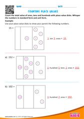Counting Place Values Number Worksheets Kindergarten, Fun Worksheets For Kids, Money Worksheets, Shapes Worksheets, Kindergarten Math Worksheets, Preschool Math, Math For Kids, Printable Worksheets, Teaching Math