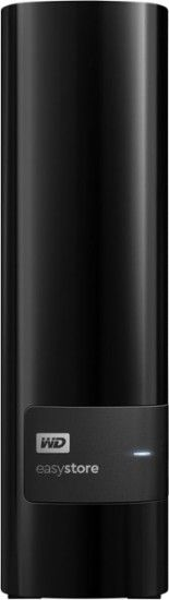 WD - easystore® 8TB External USB 3.0 Hard Drive - Black - Front Zoom