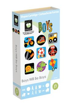 Boys Will Be Boys Cricut® Cartridge