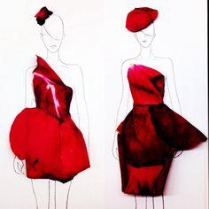 Grace Ciao, clothes, dresses, illustrations, flower petals, flowers, fashion, design