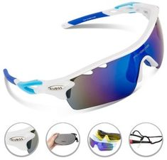ac115b7b32 Looking for the perfect Rivbos Polarized Sports Wayfarer Sunglasses With 5  Set Interchangeable Lens (White Blue)  Please click and view this most  popular ...
