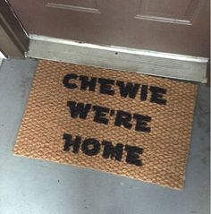 Star Wars Inspired Door Mat by Oh So Lovely Handmade | Star Wars Crafts, Recipes and Gift Ideas