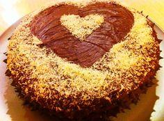 Dark Chocolate Coconut Cake