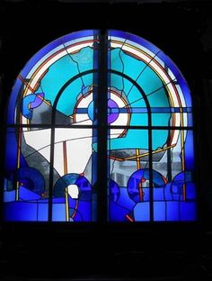 Ludvig Schaffrath Modern Stained Glass, Stained Glass Projects, Stained Glass Patterns, Stained Glass Art, Mosaic Glass, Leaded Glass Windows, Glass Panels, Gold Leaf Art, Glass Rocks