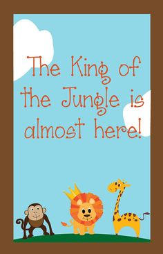 jungle baby shower signgate by