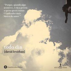 frases livro TODO DIA, David Levithan