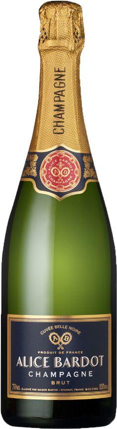 Alice Bardot Champagne - Vinklubben Bardot, Champagne, Alice, France, Pinot Noir, Bottle, Drinks, Wine, Liquor