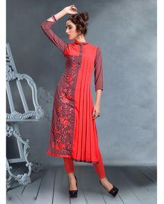 New stylish and trendy kurti neck designs - ArtsyCraftsyDad Kurti Designs Party Wear, Kurti Neck Designs, Dress Neck Designs, Saree Blouse Designs, Stylish Dresses, Fashion Dresses, Trendy Kurti, Fancy Kurti, Kurti Patterns