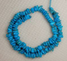 "Sleeping Beauty Turquoise Loose Small Pebble Gemstone Beads Blue 9"" Std  # 384 #SleepingBeauty #Southwest"
