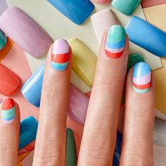 A nail-art how-to by the fantastic @jinsoon is up on the blog. Link in bio! : @jinsoon #nailart