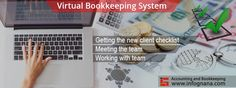 Infognana provides best accounting and virtual bookkeeping system.Our online service is safe and secure for any small business accounting bookkeeping firm