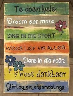 Home Quotes And Sayings, Sign Quotes, Daily Quotes, Great Quotes, Words Quotes, Pallet Quotes, Pallet Signs, Wood Signs, Afrikaanse Quotes
