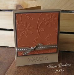 Dana& Dabbling Studio: November is creamy caramel, really rust and chocolate chip. Ink is chocolate chip. Scrapbook Cards, Scrapbooking, Origami, Embossed Cards, Congratulations Card, Doodles, Fall Cards, Card Sketches, Sympathy Cards