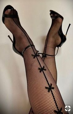 Definitely my FLAVOR - aurefga. Hot Heels, Sexy Legs And Heels, Black High Heels, Pantyhose Heels, Stockings Heels, Fishnet Tights, Stockings Lingerie, Black Stockings, Fashion Heels