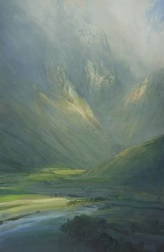 This painting is all about the brushstrokes. Just look how the direction of the paint creates atmosphere in this landscape, creating height and movement.
