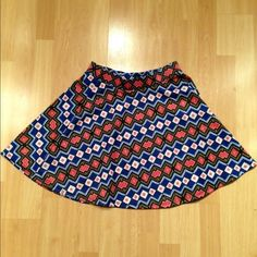 Patterned circle skirt Purchased from Target. Size medium. Mossimo Supply Co Skirts Circle & Skater