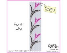 Punk Lilly - Peyote Bracelet Pattern - INSTANT DOWNLOAD pdf - Special savings with coupon codes - bp91