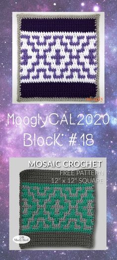 MooglyCAL2020 Block 18 is a gorgeous mosaic piece by Marly Bird! You'll love how simple it is to create this stunning design. Read on for all the details, and for the link to Block #18 in this free year-long crochet along featuring Red Heart With Love! #yarnspirations #redheart #withlove #freecrochetpatterns #mooglycal2020 #cal #crochetalong Mosaic Pieces, Free Crochet, Free Pattern, Crochet Patterns, Bird, Detail, Create, Simple, How To Make