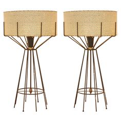 Arthur Umanoff, iron lamps for Elton, c1952.
