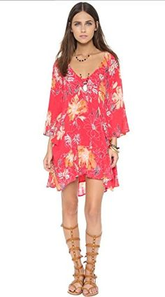 Free People Women's Eyes On You Floral Print Trapeze Dress at Amazon Women's Clothing store: