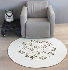 carpet FLOWERS WHITE