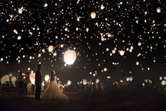 Swooned: Vanessa & Spencer: A Tangled-Themed Engagement Shoot at the Lantern Fest - ABSOLUTELY #STUNNING!