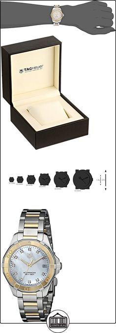 Tag Heuer Aquaracer WAY1351. BD091732mm diamantes Multicolor Pulsera de acero & Case sintético Zafiro Reloj de mujer  ✿ Relojes para mujer - (Lujo) ✿