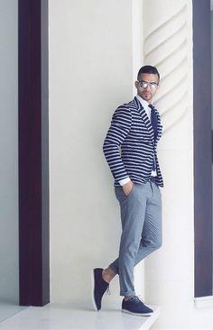 Striped blazer #menswear