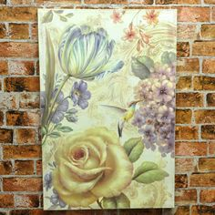 Set 2 Rose & Butterfly Wood Board Canvas Print Picture